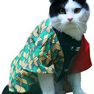 WONGHI Disfraz de gato para perro pequeño cosplay para anime