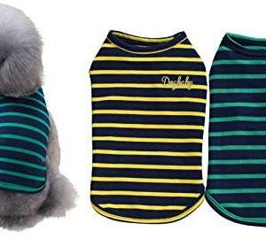 YAODHAOD 2-Pack de Camisas de algodón para Perros, Ropa para