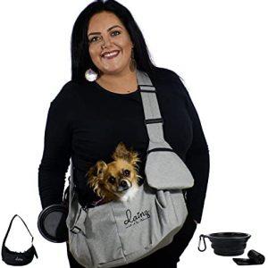 dainz® Bolsa de transporte para perros pequeños y gatos de